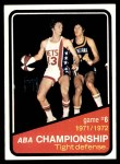 1972 Topps #246   ABA Championship Game #6 Front Thumbnail