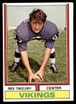 1974 Topps #214  Mick Tingelhoff  Front Thumbnail