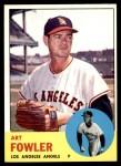 1963 Topps #454 WHI Art Fowler  Front Thumbnail