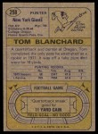 1974 Topps #258  Tom Blanchard  Back Thumbnail