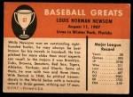 1961 Fleer #67  Bobo Newsom  Back Thumbnail