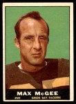 1961 Topps #42  Max McGee  Front Thumbnail