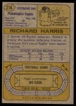 1974 Topps #216  Richard Harris  Back Thumbnail