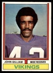1974 Topps #240  John Gilliam  Front Thumbnail