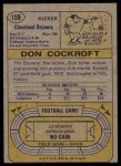 1974 Topps #159  Don Cockroft  Back Thumbnail