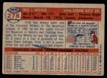 1957 Topps #278  Fred Hatfield  Back Thumbnail