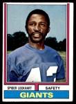 1974 Topps #206  Spider Lockhart  Front Thumbnail