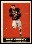1961 Topps #184  Dick Christy  Front Thumbnail