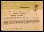 1961 Fleer #145  Al Carmichael  Back Thumbnail