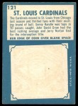 1961 Topps #121   Cardinals Team Back Thumbnail