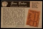 1955 Bowman #7  Gene Baker  Back Thumbnail