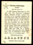 1961 Golden Press #10  Charlie Gehringer  Back Thumbnail