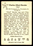 1961 Golden Press #18  Chief Bender  Back Thumbnail