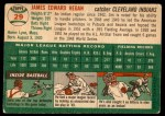 1954 Topps #29  Jim Hegan  Back Thumbnail