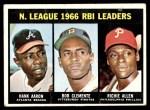 1967 Topps #242   -  Hank Aaron / Rich Allen / Roberto Clemente NL RBI Leaders Front Thumbnail