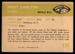 1961 Fleer #134  Wray Carlton  Back Thumbnail