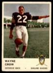 1961 Fleer #198  Wayne Crow  Front Thumbnail
