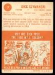 1963 Topps #7  Dick Szymanski  Back Thumbnail
