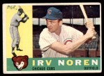1960 Topps #433  Irv Noren  Front Thumbnail