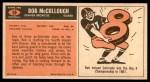 1965 Topps #58  Bob McCullough  Back Thumbnail