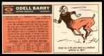 1965 Topps #45  Odell Barry  Back Thumbnail