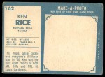 1961 Topps #162  Ken Rice  Back Thumbnail