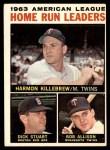 1964 Topps #10   -  Harmon Killebrew / Bob Allison / Dick Stuart AL HR Leaders Front Thumbnail