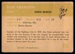 1961 Fleer #151  Ken Adamson  Back Thumbnail
