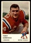 1961 Fleer #185  Tony Sardisco  Front Thumbnail