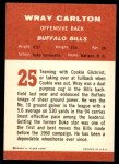 1963 Fleer #25  Wray Carlton  Back Thumbnail
