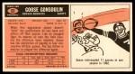 1965 Topps #52  Goose Gonsoulin  Back Thumbnail