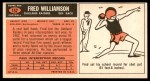 1965 Topps #152  Fred Williamson  Back Thumbnail