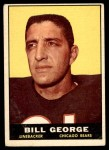 1961 Topps #16  Bill George  Front Thumbnail