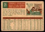 1959 Topps #21  Connie Johnson  Back Thumbnail