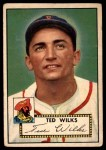 1952 Topps #109  Ted Wilks  Front Thumbnail