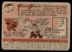 1958 Topps #159  Taylor Phillips  Back Thumbnail