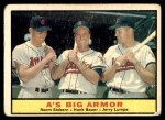 1961 Topps #119   -  Norm Siebern / Hank Bauer / Jerry Lumpe A's Big Armor Front Thumbnail