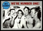 1970 Topps #198  Nolan Ryan / Tommie Agee / Duffy Dyer 1969 NL Playoff - Summary - Mets Celebrate Front Thumbnail