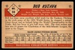 1953 Bowman B&W #33  Bob Kuzava  Back Thumbnail