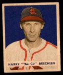 1949 Bowman #158  Harry Brecheen  Front Thumbnail