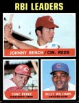 1971 Topps #64   -  Johnny Bench / Tony Perez / Billy Williams NL RBI Leaders   Front Thumbnail