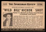 1954 Topps Scoop #122   Wild Bill Hickok Shot Back Thumbnail