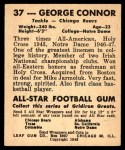 1948 Leaf #37  George Connor  Back Thumbnail