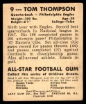 1948 Leaf #9 YEL Tommy Thompson  Back Thumbnail