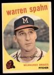 1959 Topps #40 A Warren Spahn  Front Thumbnail