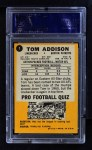 1967 Topps #5   Tommy Addison  Back Thumbnail