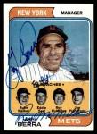 1974 Topps #179   -  Yogi Berra / Roy McMillan / Joe Pignatano / Rube Walker / Eddie Yost Mets Leaders   Front Thumbnail