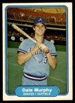 1982 Fleer #443  Dale Murphy  Front Thumbnail