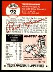 1953 Topps Archives #92  Paul Minner  Back Thumbnail