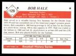 1979 TCMA The 50's #129  Bob Hale  Back Thumbnail